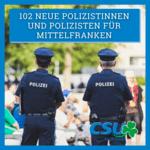 102 neue Polizistinnen und Polizisten für Mittelfranken