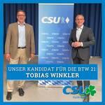 Tobias Winkler mit über 93 Prozent als Direktkandidat für den Bundestag nominiert