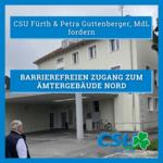 Barrierefreier Zugang zum Ämtergebäude Nord