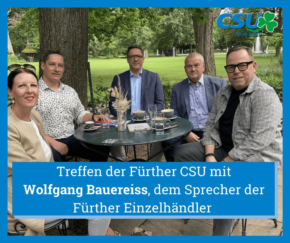 Treffen mit Einzelhändler Wolfgang Bauereiss