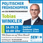 Politischer Frühschoppen am 14.09. mit Tobias Winkler